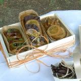 Minicakes in der Holzschachtel